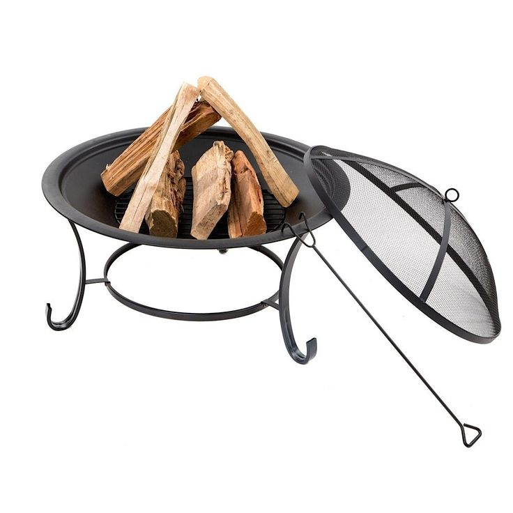 "Fire Pit Outdoor Patio Steel Deck Backyard Garden 30"" Heater Wood Burning Beach  #FirePitOutdoor"