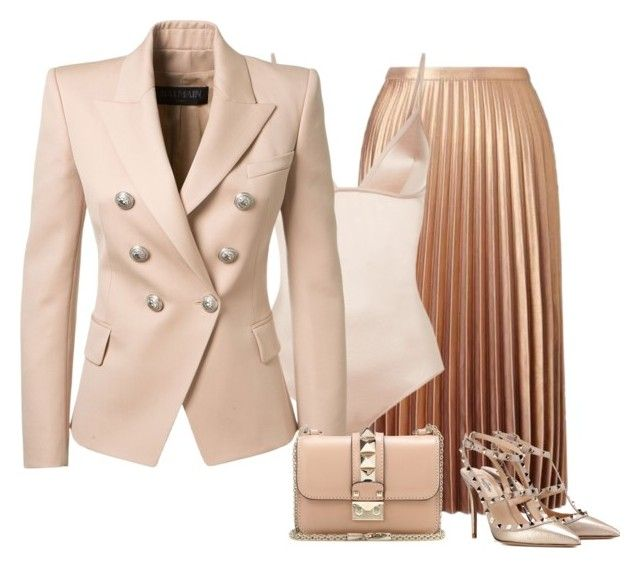 Simplicity by cristalmichel on Polyvore featuring polyvore fashion style Balmain Miss Selfridge La Perla Valentino clothing