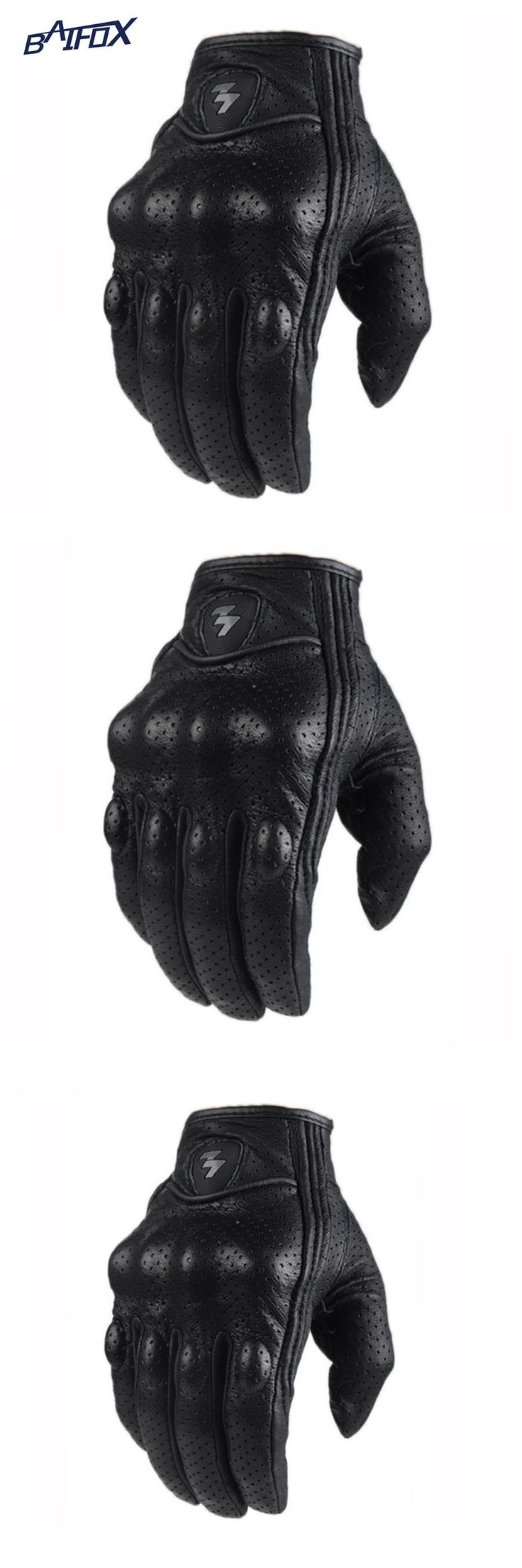 Diavolo leather motorcycle gloves -  Visit To Buy Retro Perforated Leather Motorcycle Gloves Cycling Moto Motorbike Protective Gears Motocross