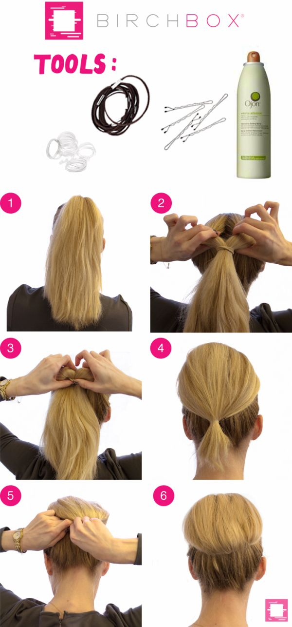 Reverse tipsy tail bun how to
