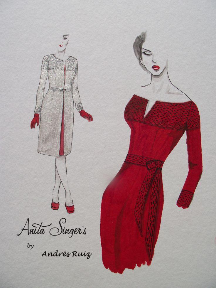 Diseño de Anita Singers, Moda 50's