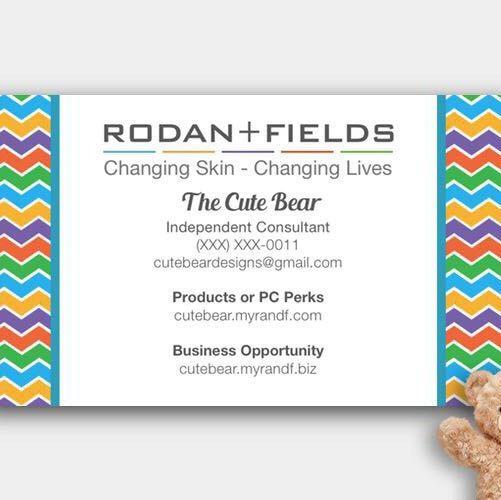 "3.5"" x 2"" Custom Rodan and Fields Business Cards (No Headshot needed)"