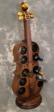A very cool and musical wine rack.
