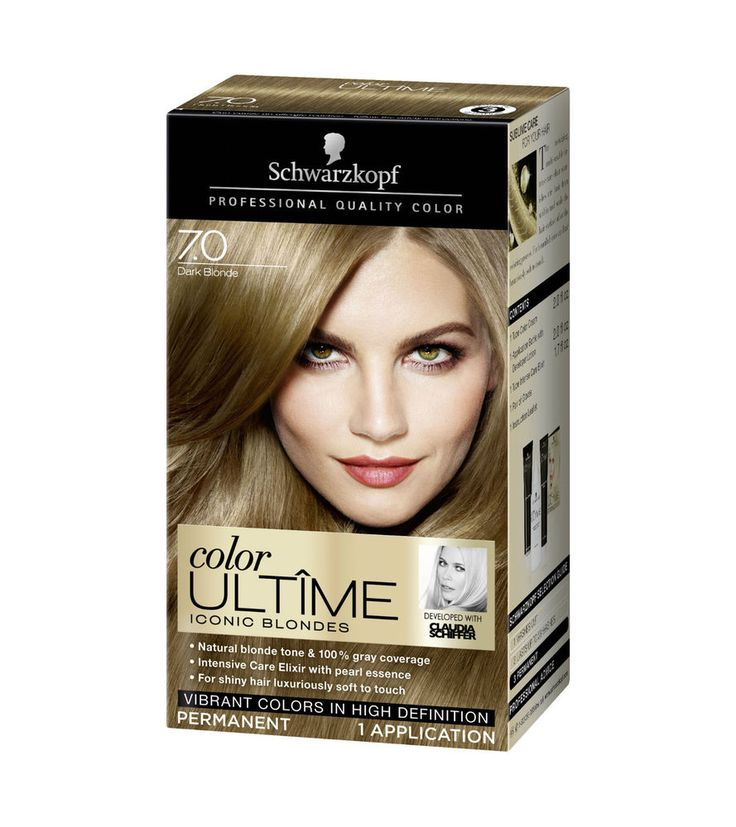 coloration schwarzkopf blonde ultime N°7.0 dark blond neuf