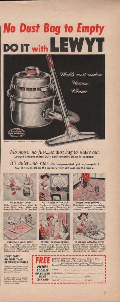 Lewyt Modern Vacuum Cleaner (1950)