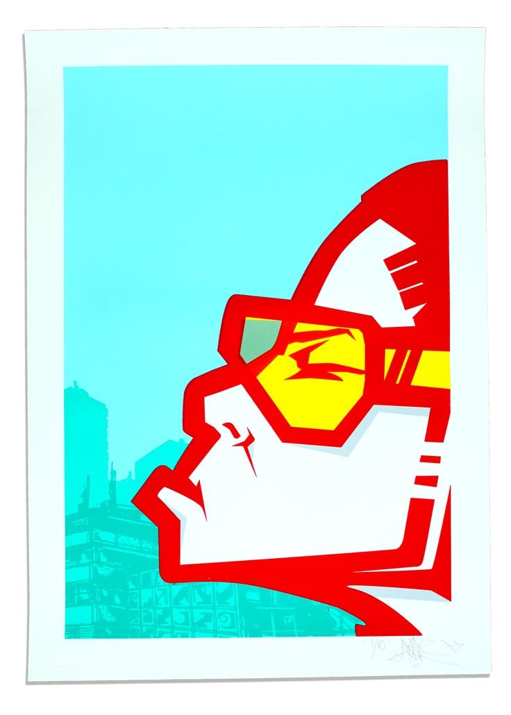 'Living for the City' - AROE MSK. Screen print.