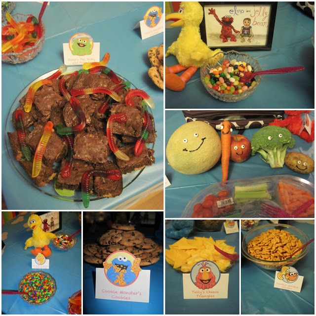 Sesame Street Birthday Party Insprired Food