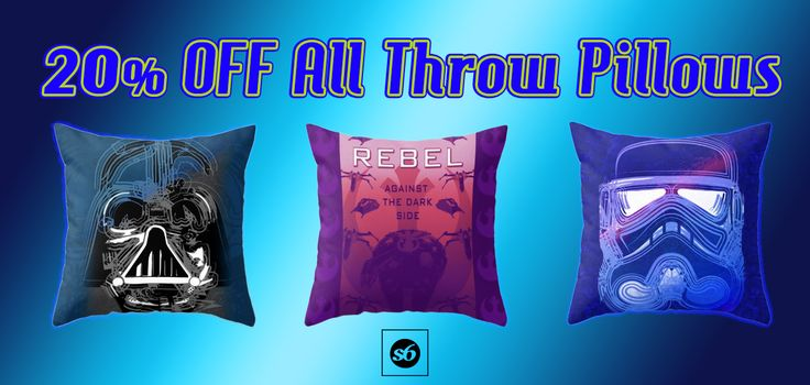 20% OFF All Throw Pillows in my Store!!!  + FREE SHIPPING #discount #sve #sales #throwpillows #pillows #society6 #freeshipping #kidsroom #geek #nerd #geekgifts #homegifts #nerdgifts #geekhome #mancave #giftsforhim #giftsforher #scifi #coolpillows #buypillows #onlineshopping #movies #scifimovies #moviegifts #cinemagifts