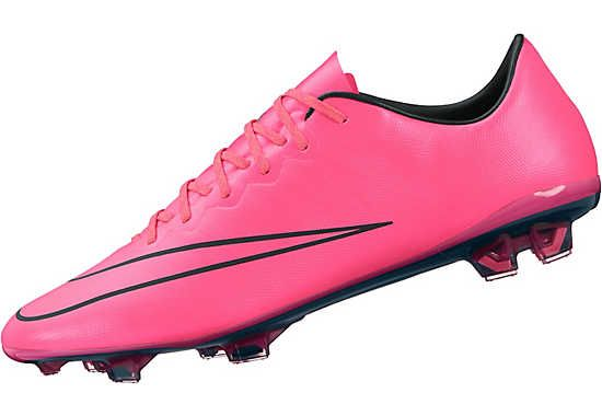 Nike Mercurial Vapor X FG Soccer Cleats - Pink and Black