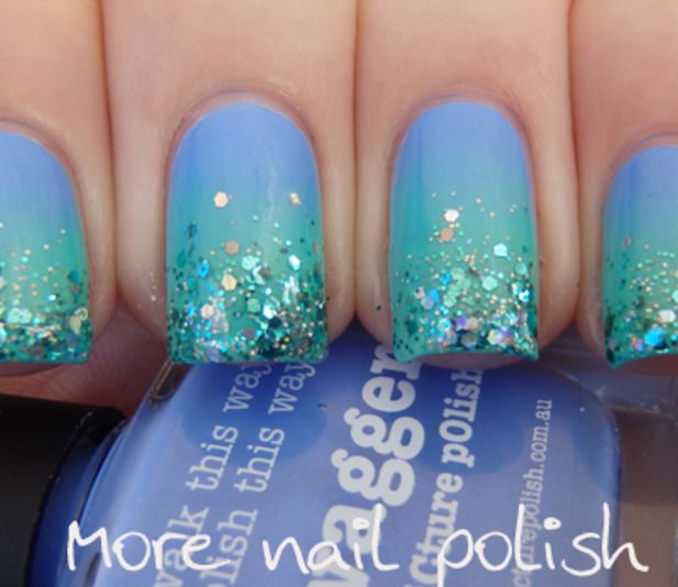 Perfect mermaid nails @Luuux #LuuuxWeeklyBeautyComp