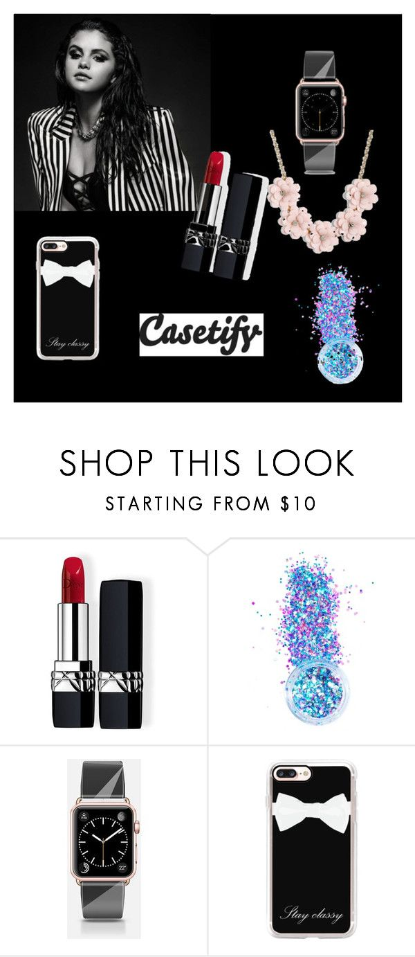 """Black world"" by angelina-j ❤ liked on Polyvore featuring Christian Dior, In Your Dreams, Casetify and J.Crew"
