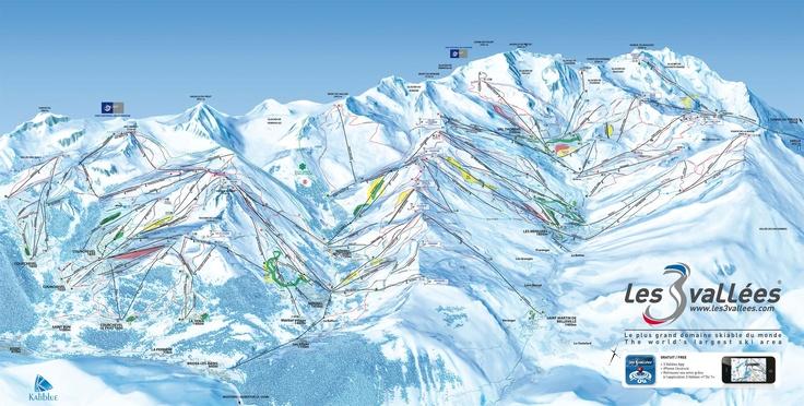 Les 3 vallees ski map