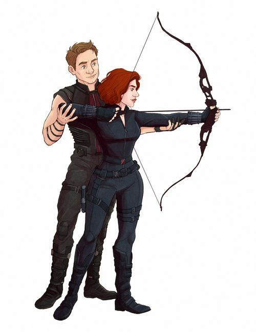 Clint Barton and Natasha Romanoff || #fanart PLEASE do the thing with me!! @aclark2003  I'll go first. Look in comments. (We will double it)
