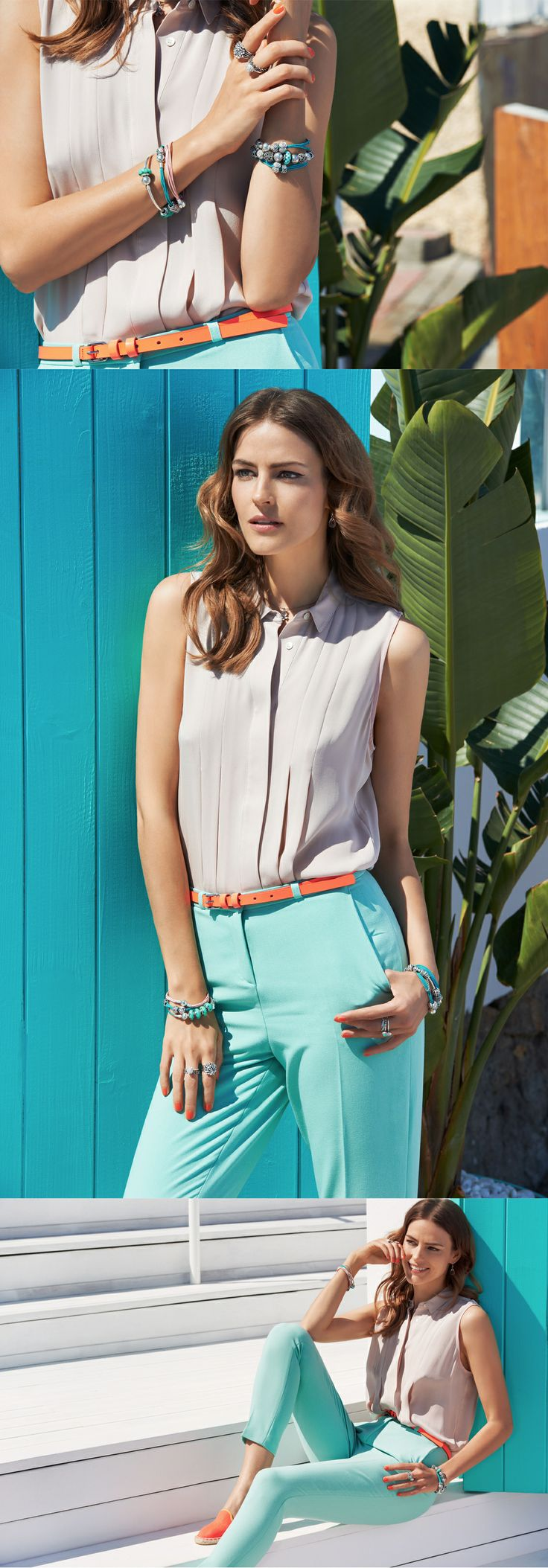 Combine your pastels with a small detail of bright orange #PANDORAstyle in the #PANDORAmagazine