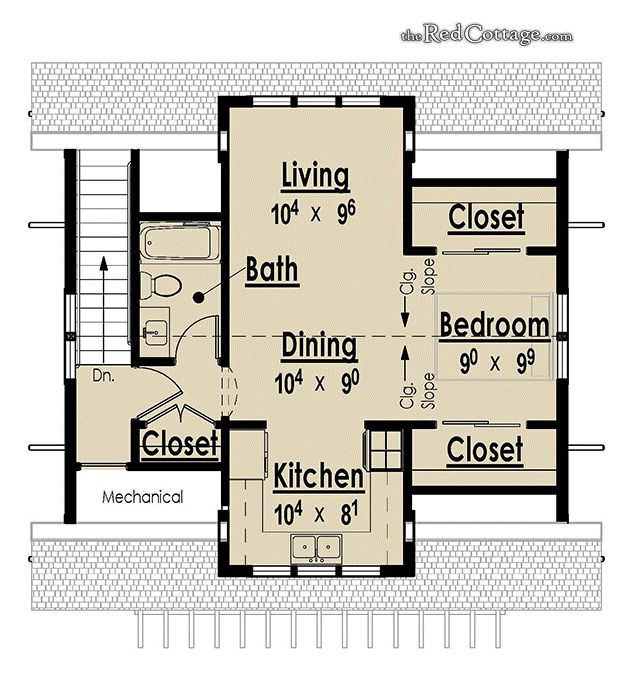 the red cottage floor plans home designs 97000 commercial buildings architecture custom - Coach House Floor Plans