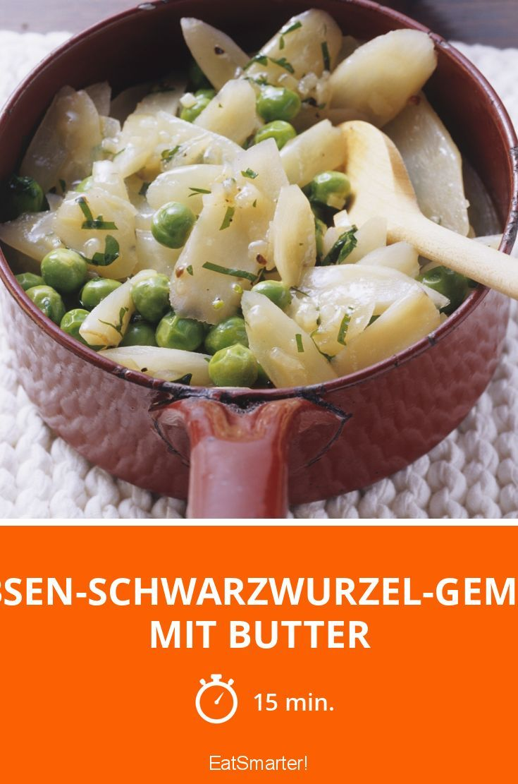 Erbsen-Schwarzwurzel-Gemüse mit Butter