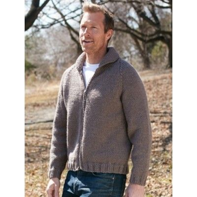 f88828c51 Patons Dad s Zip Front Jacket Free Knitting Pattern for Men