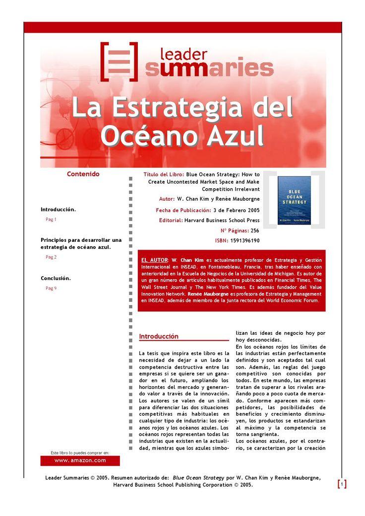 """Libro de negocios """"Blue Ocean Strategy"""", de Chan Kim y Renée Mauborgne. Escrito en 2005, el libro propone una estrategia de negocios fundada en la idea de ganar mediante la """"no competencia""""."""