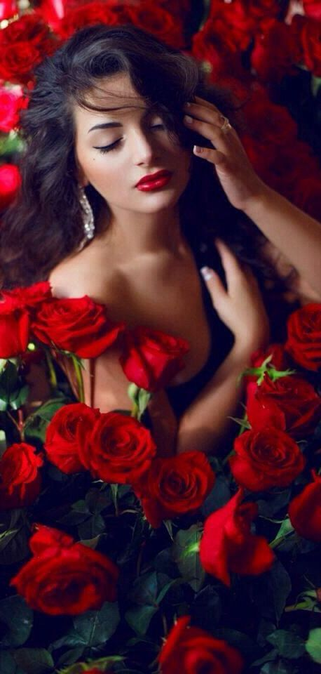 FEEL FABULOUSLY RED TODAY !! CLOSE YOUR EYES AND FEEL THE RAW PASSION OF RED FLOWING THROUGH YOUR VEINS. SURROUNDED BY THE SOFTNESS AND AROMA OF RED ROSE PEDALS, LET RED TAKE YOU TO PLACES YOU HAVE NEVER BEEN. IVET H. P. (c)