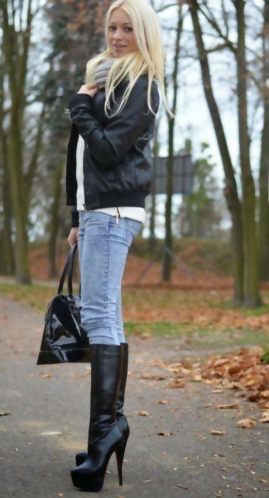 149ab9b37023 High heels boots  highheelbootsoutfit