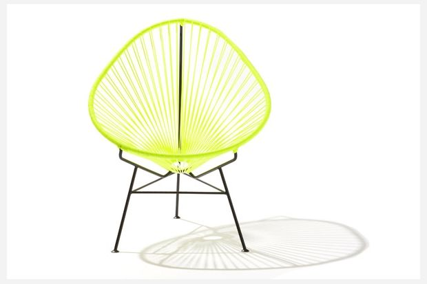 The iconic Acapulco chair gets a modern update thanks to a coat of bright yellow paint. Acapulco Chair in Neon Yellow ($495 at Acapulco Chair)