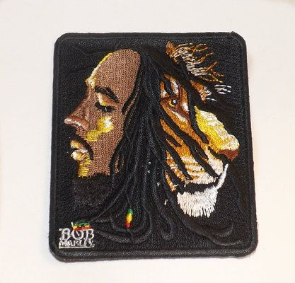 Bob Marley Profiles clothing patch.