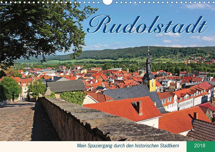 """Städte- und Regionalkalender """"Rudolstadt – mein Spaziergang durch den historische Stadtkern"""", Kalenderblatt Cover"""