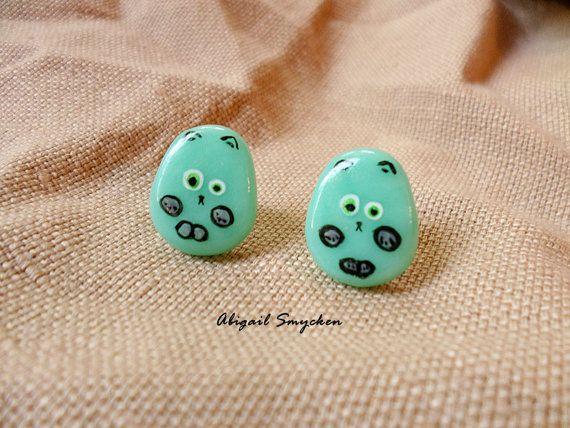 Kawaii Mouse Earrings Kawaii Animal Earrings by AbigailSmycken