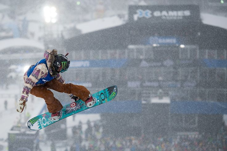 ASPEN, CO - JANUARY 31: Chloe Kim takes off during her second run of the women's snowboard halfpipe at Winter X Games 2016 Aspen at Buttermilk Mountain on January 31, 2016, in Aspen, Colorado. Kim won the gold medal for the second straight year. (Photo by Daniel Petty/The Denver Post)
