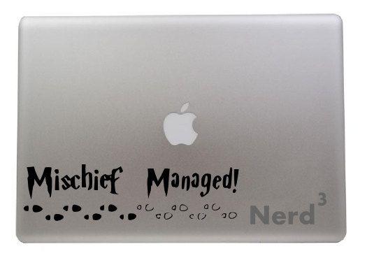Mischief Managed Quote Macbook vinyl decal - For macbooks, laptops, car windows, etc...