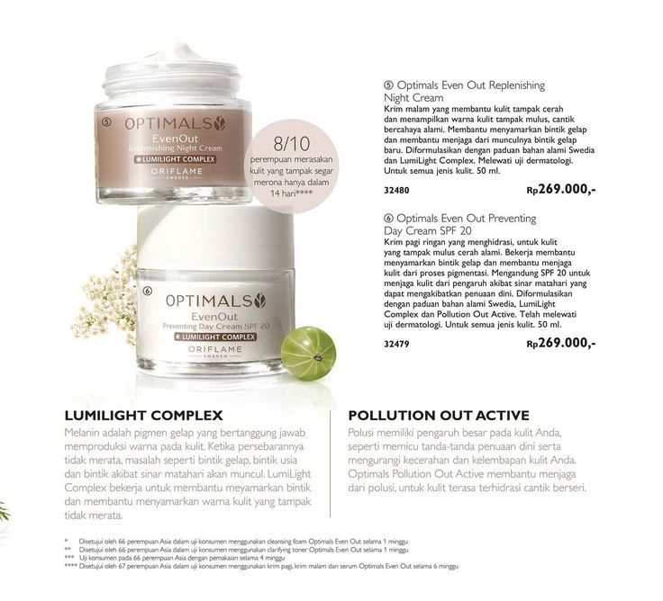 Optimals Even Out Replenishing Night Cream  Optimals Even Out Preventing Day Cream SPF 20 OPTIMALS EVEN OUT SET   GRATIS BOX OPTIMALS setiap pembelian Optimals Even Out set Pemesanan Produk Hub; Sri wahyuni Alfi Wa/Line.Hp . 089647425947 Pin. 5E1F4BDB