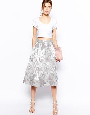 ea238be7581057 ASOS Midi Skirt In Camo Jacquard. Cropped TopSummer ...
