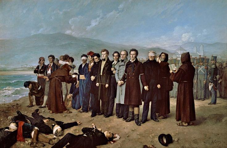 Fusilamiento de Torrijos y sus compañeros en las playas de Málaga - Colección - Museo Nacional del Prado- Antonio Gisbert