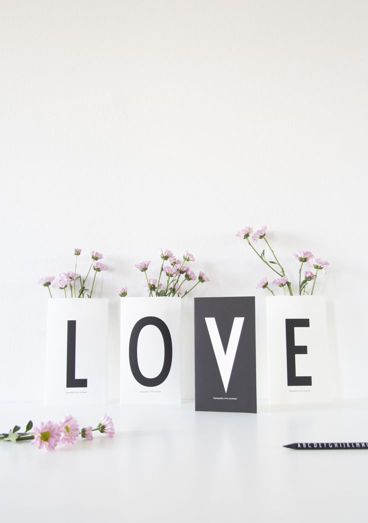 Lovely and cool greeting cards. For valentines or personal greetings. Typography: AJ Vintage ABC.