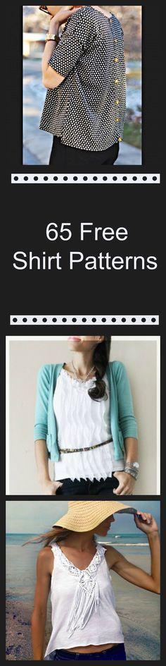 65 Free Shirt Patterns                                                                                                                                                                                 More