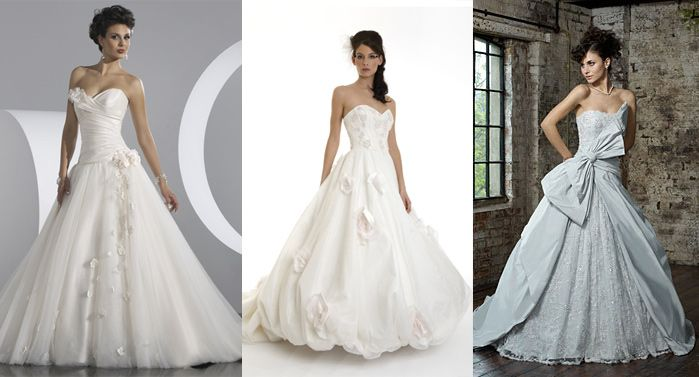 Fifties style wedding gowns