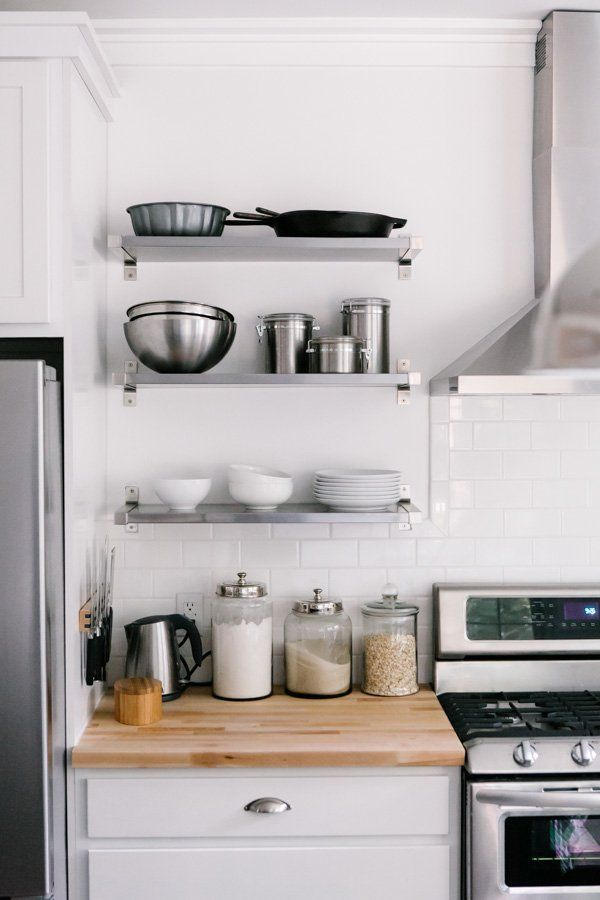 how to style your open kitchen shelving - the baker | via coco+kelley