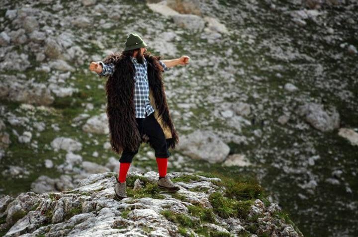Vinicio Capossela, Psarantonis - Rifugio Vajolet @valérie heinrich-spindler di Fassa  (3 agosto 2013) ©Paolo Ordignoni