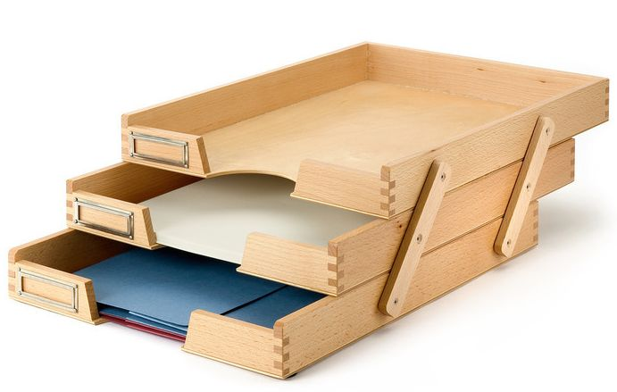 Jeri's Organizing & Decluttering News: Stacking Paper Trays: A Problem or a Solution?