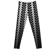 black and white geometric triangles pattern leggings