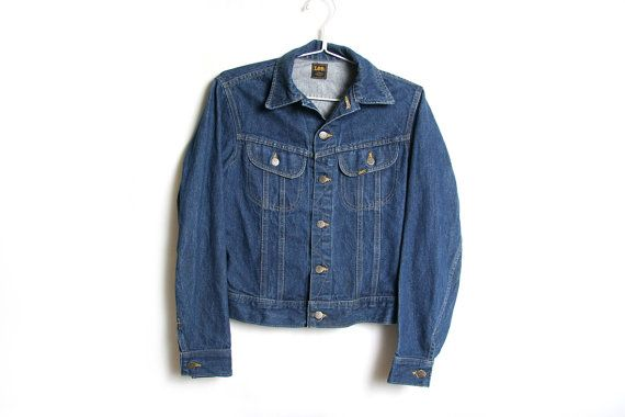 Vintage Lee Jean Jacket  Dark Denim Jean by HowToCatchaGhost