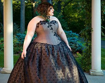 12 best ball gowns for big bad women images on pinterest for Alternative plus size wedding dresses