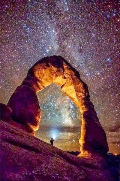 Arches National Park, and the Milky Way.