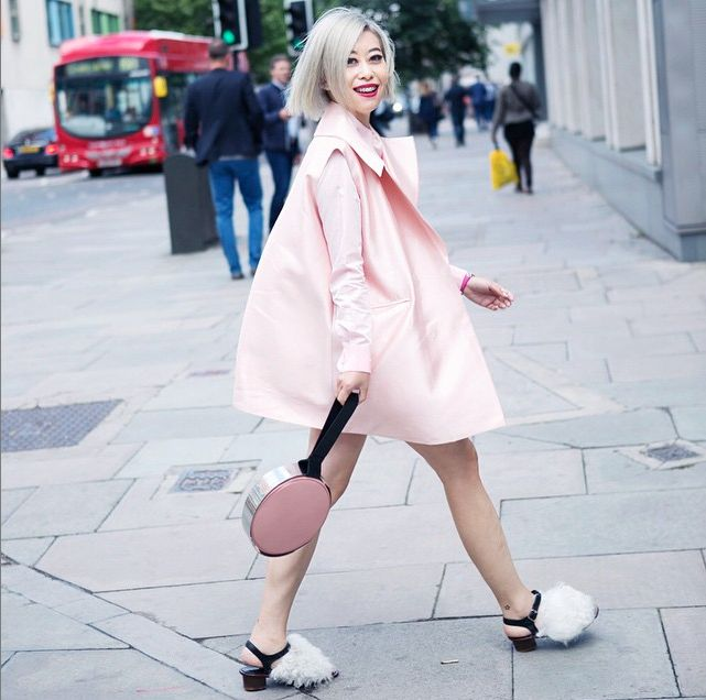 candy li at london fashion week