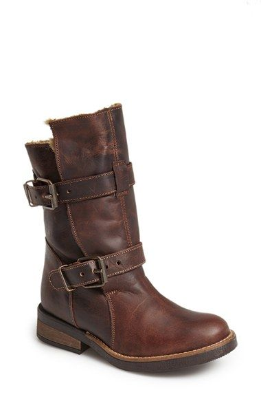 Free shipping and returns on Steve Madden 'Caveat' Moto Boot (Women) at Nordstrom.com. Plush faux-fur lining provides a cozy finishing touch for a stand-out mid-calf biker boot cast in lightly distressed leather.