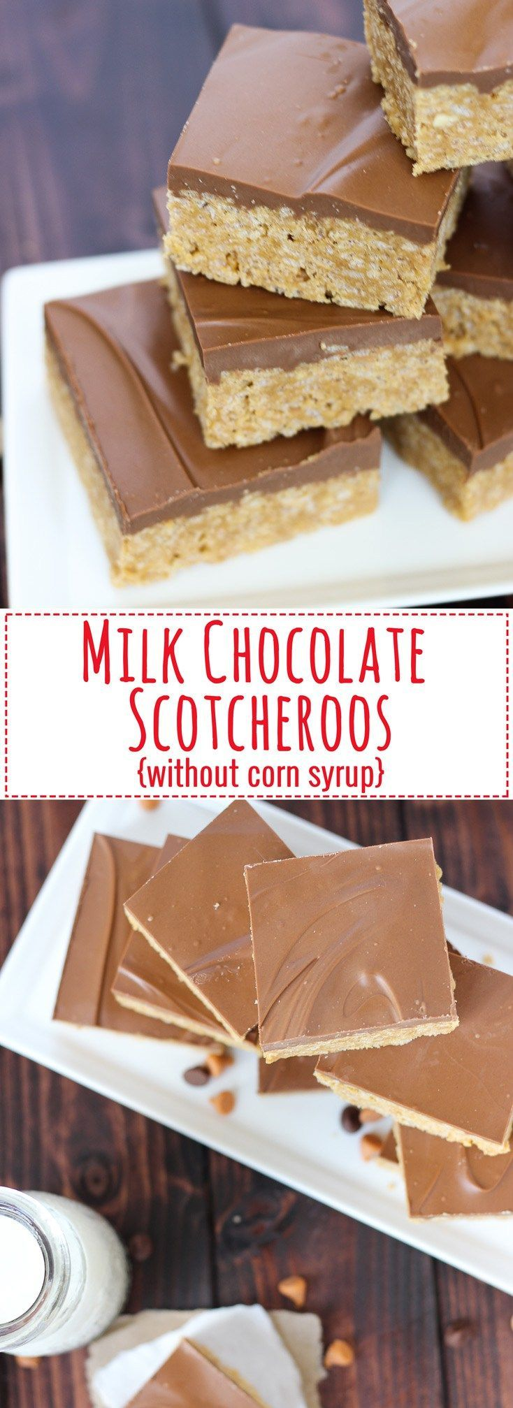 Milk Chocolate Scotcheroos {without Corn Syrup} // Fork in the Kitchen