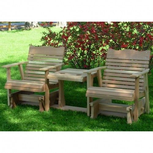 Amish Creek Furniture Classic Gliding Chair Set Porch Gliders Pinterest