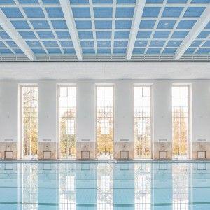 Veauthier Meyer Architects: renovated 1930s swimming pool, Schwimmhalle, Finckensteinallee, Berlin.