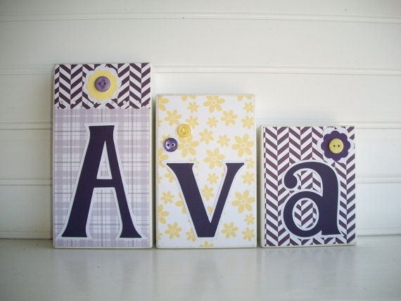 baby name letters name blocks land of nod not you grandmas quilt nursery decor baby letter blocks wood name blocks by ressielillian on etsy
