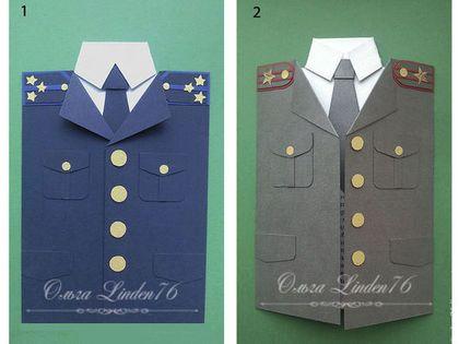 """Открытки для мужчин, ручной работы. Ярмарка Мастеров - ручная работа. Купить открытка """"Военная форма"""". Handmade. Открытка для мужчины"""